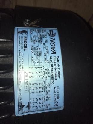Motor 15cv baixa rotação - Foto 4