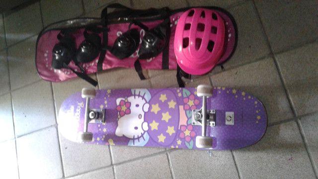 skate completo de menina - Foto 3