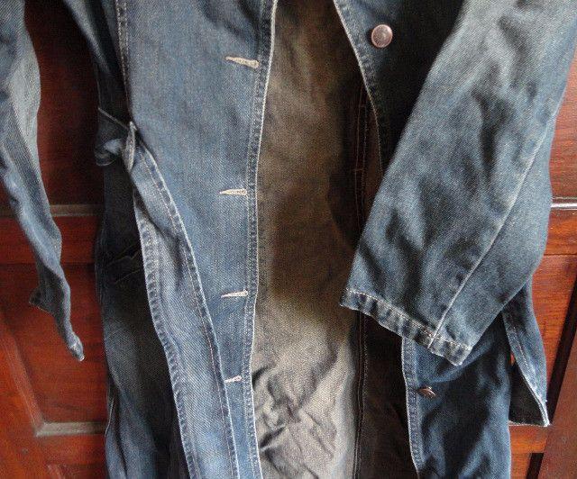 Casaco sobretudo em Jeans Feminino - Foto 2