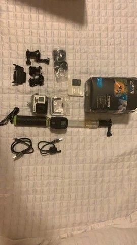 Gopro | Gopro Hero 3+ com Kit LCD Original Gopro + Cabo para Selfie Original