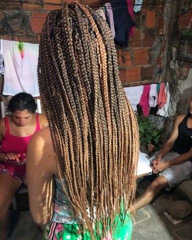 Tranças box braids e nagô  - Foto 2