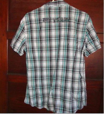Camisa xadrez verde masculina - Foto 4