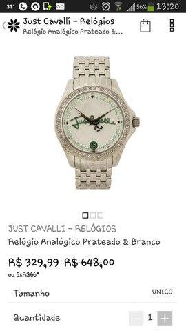 Relógio da Just Cavalli Zircônias Prata Original