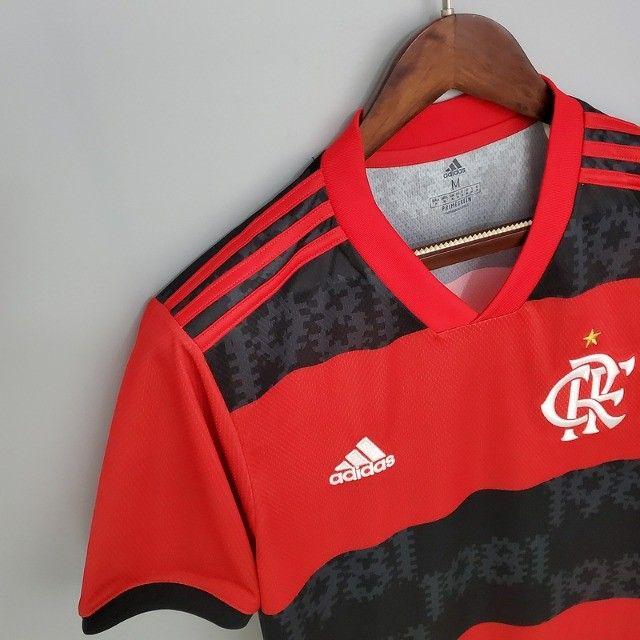 Camisa Flamengo 2021 - Tamanho M - Tailandesa (Primeira Linha) - Foto 5