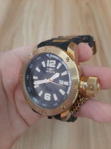 Relógio Invicta Force mod 12964 banhado ouro 18 (Usado) - Foto 3