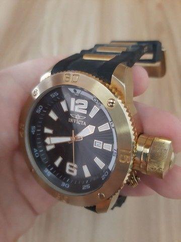 Relógio Invicta Force mod 12964 banhado ouro 18 (Usado) - Foto 4