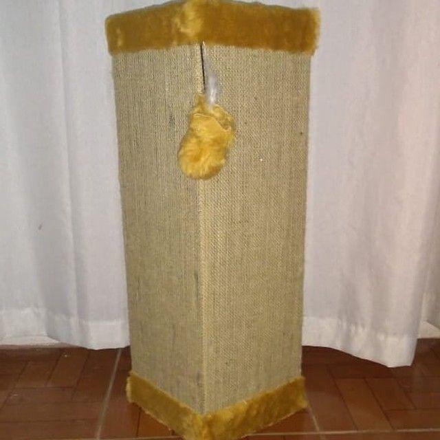 Protetor canto sofá com tela dupla, bordas caramelo - Foto 2