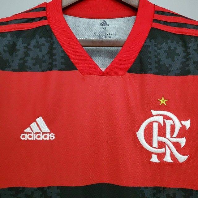Camisa Flamengo 2021 - Tamanho M - Tailandesa (Primeira Linha) - Foto 3