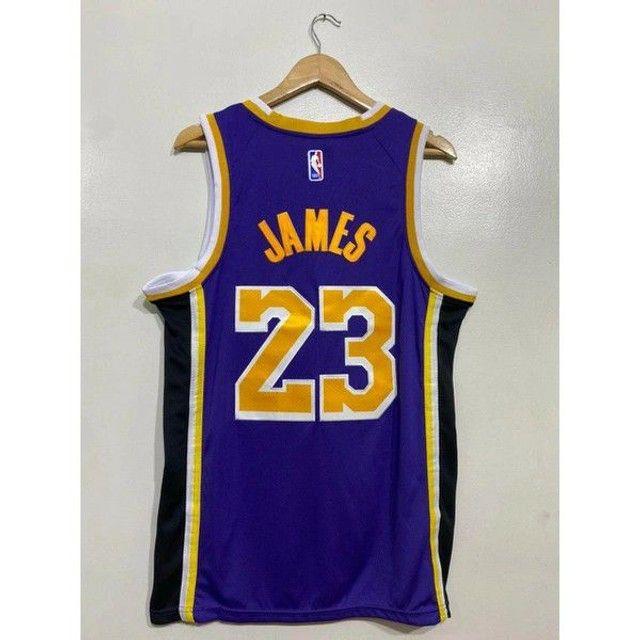 Camisa NBA Lakers bordada - Foto 2