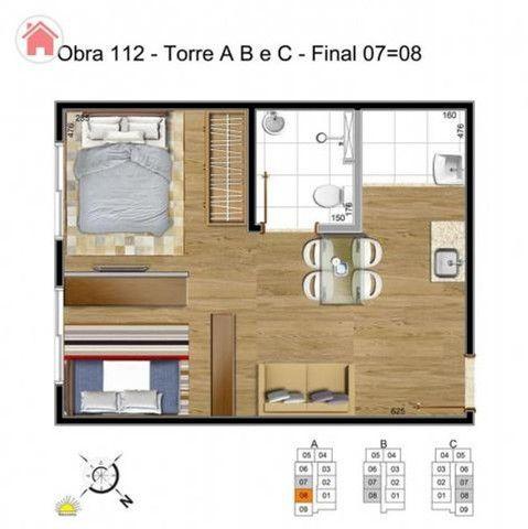 Apartamento em Samambaia de 1 quarto na melhor regiao - Foto 4