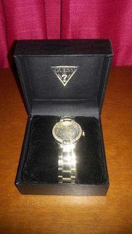 Relógio Guess Zircônias Original Unissex - Foto 2