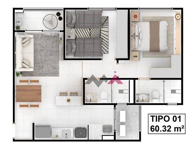 Apartamento com 2 dormitórios à venda, 60 m² por R$ 294.588,00 - Plano Diretor Sul - Palma - Foto 6