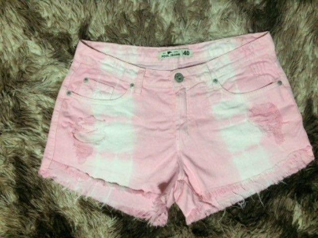 Lindo shorts rosa tam 18,00 - Foto 2