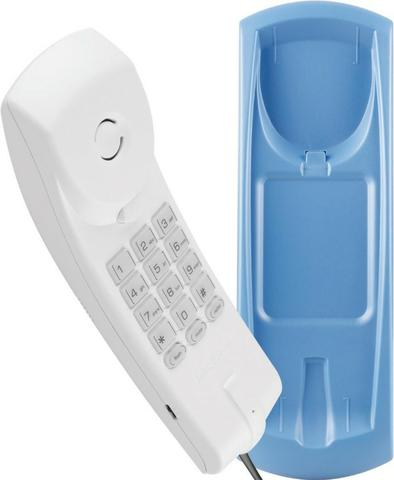 Telefone com fio Gôndola Color Tc 20 Cinza Ártico/Azul Intelbras