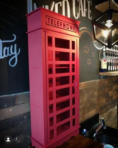 Linda Cabine telefônica Londres 90cm