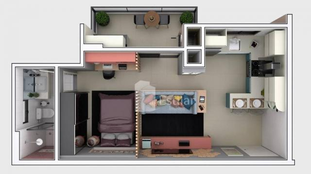 Studio com 1 dormitório no centro - são josé dos pinhais/pr - Foto 18