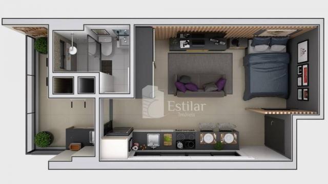 Studio com 1 dormitório no centro - são josé dos pinhais/pr - Foto 10