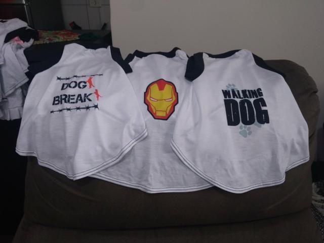 110x Camisetas de Cachorro - baixei pra vender rapido