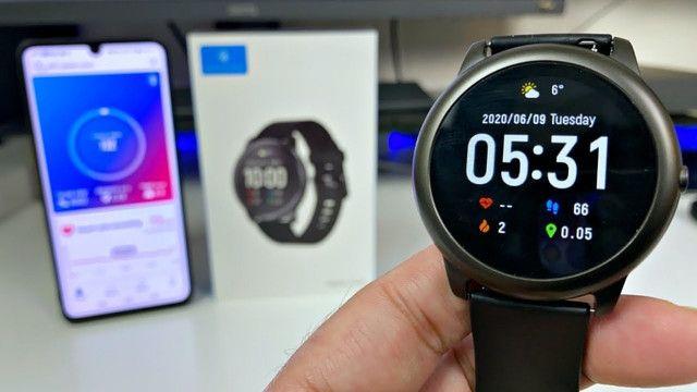 Só Hoje - Relogio Inteligente Xiaomi Smartwatch Haylou SolarLs05 - 100% original - lacrado - Foto 2