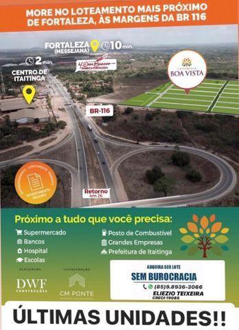 Loteamento à 10 minutos de Fortaleza com infraestrutura completo!
