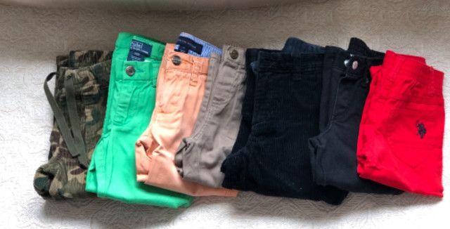 Lote de calças grifadas legítimas tamanho 2 t - Foto 2