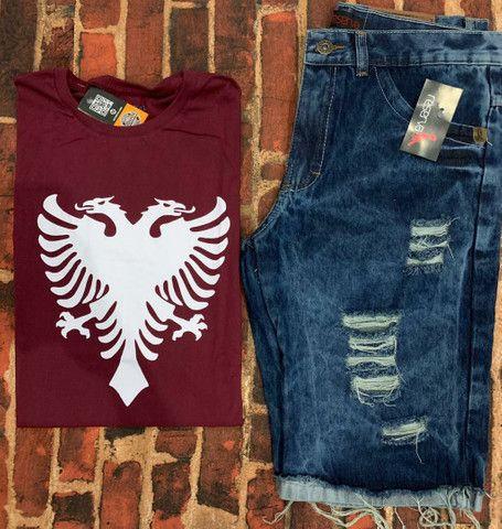 Kit masculino camiseta & bermuda - Foto 4
