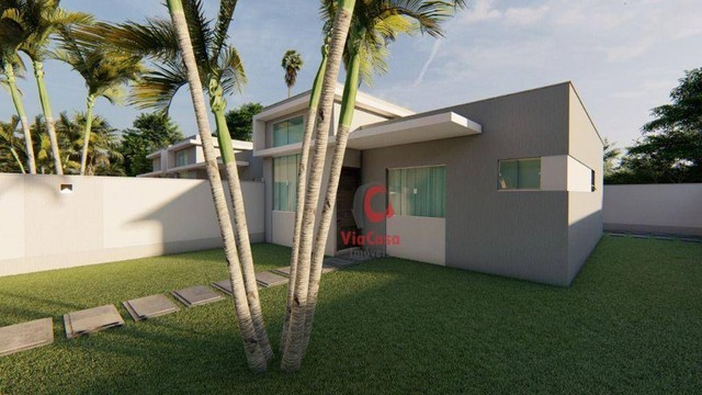 Casa Linear com 3 Quartos Sendo 1 Suíte à venda, 80 m² por R$ 280.000 - Enseada das Gaivot - Foto 2