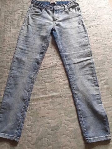 Calça jeans azul Sem nova - Foto 2