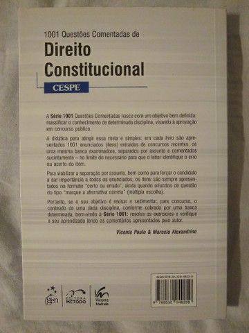 1001 Questões Comentadas de Direito Constitucional 4ª edição - Foto 2