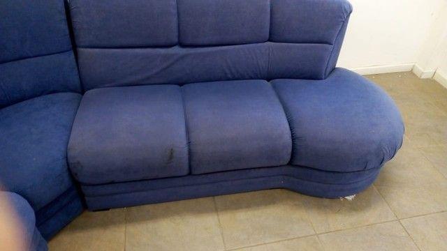 Sofá de Canto Azul - Foto 5