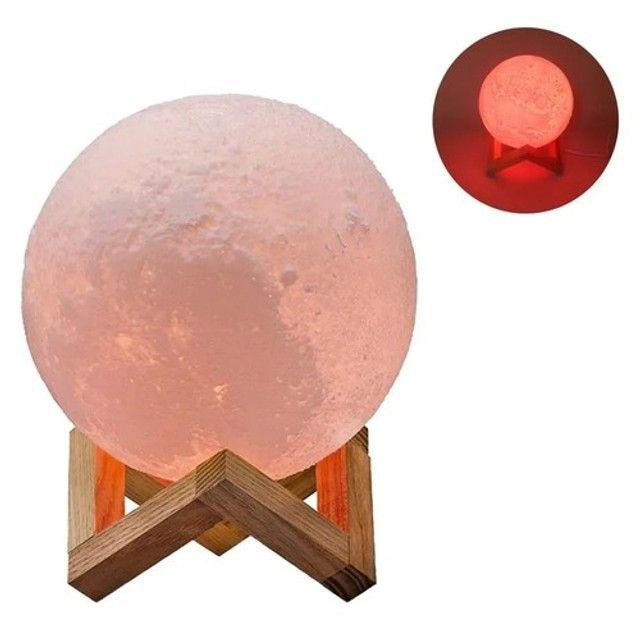 Luminária Lua com Música e Bluetooth e Controle - Foto 4