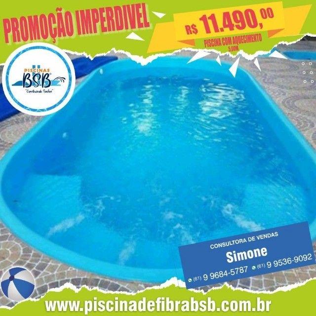 piscina de fibra Promoção mês das mães