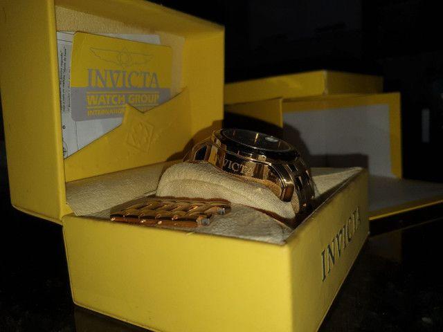Relógio invicta banhado a ouro 24k Relógio original  - Foto 2