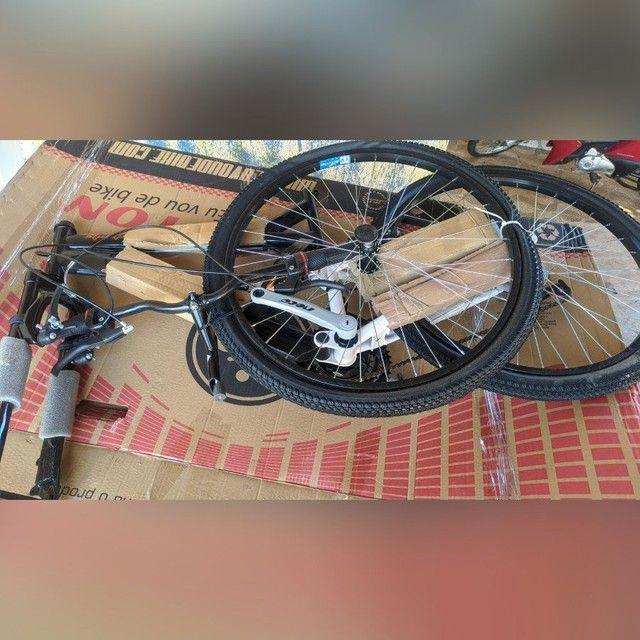 Bike houston stinger aro 26, quadro aço carbono - Foto 3