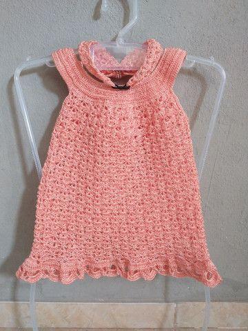 Vestido de crochê infantil - Foto 2