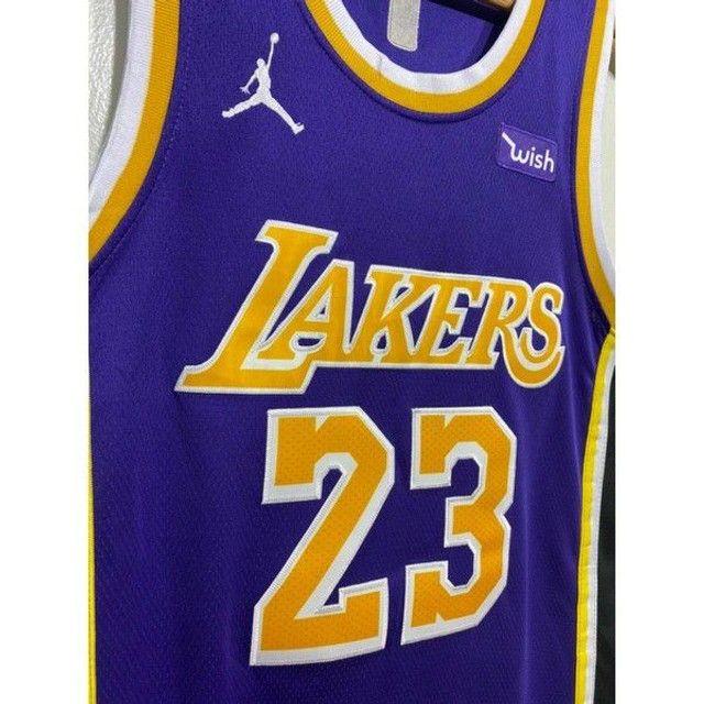 Camisa NBA Lakers bordada - Foto 4