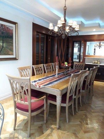 Mesa importada, banquete 10 lugares em nogueira