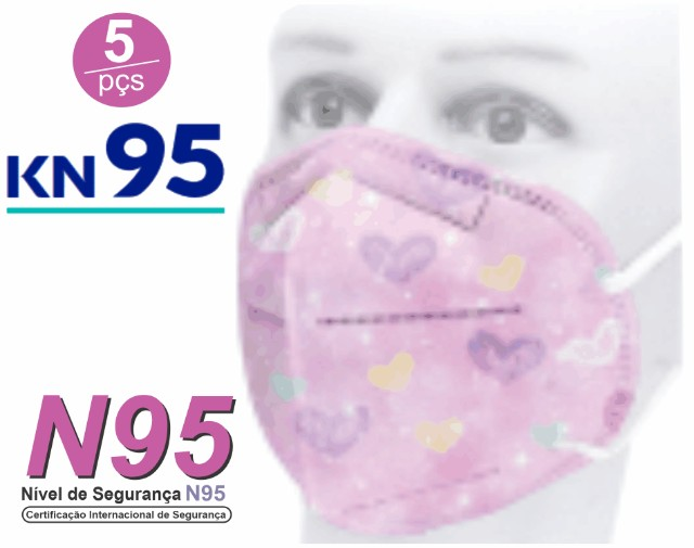 Kit 5 Máscaras com filtro N95 - KN95 - PFF2
