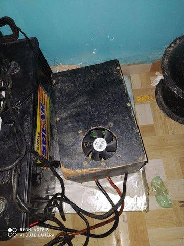Caixa de som e fonte caseira - Foto 3
