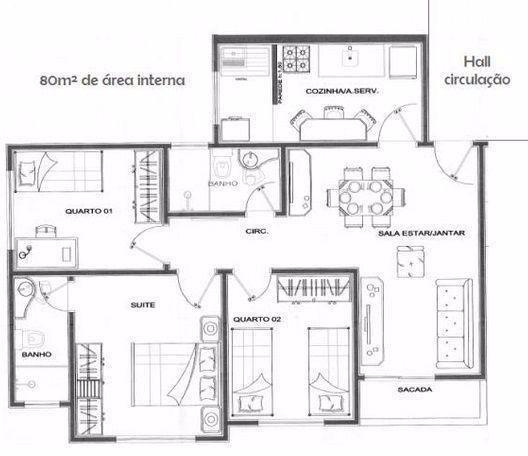 Apartamento Residencial Bom Sucesso – 03 Quartos