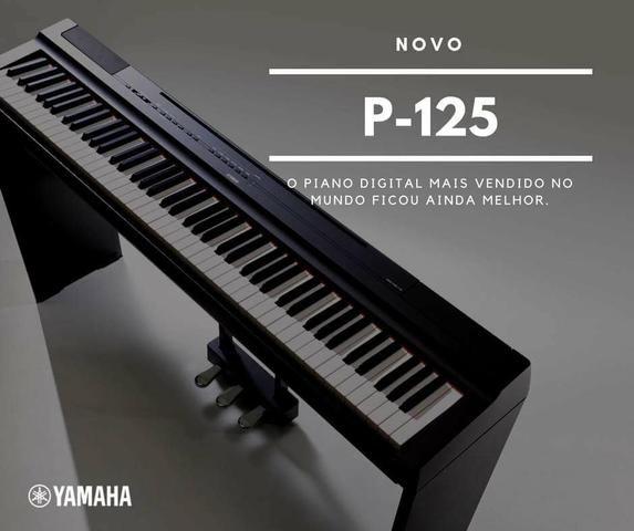 piano digital yamaha p 125 novo instrumentos musicais. Black Bedroom Furniture Sets. Home Design Ideas