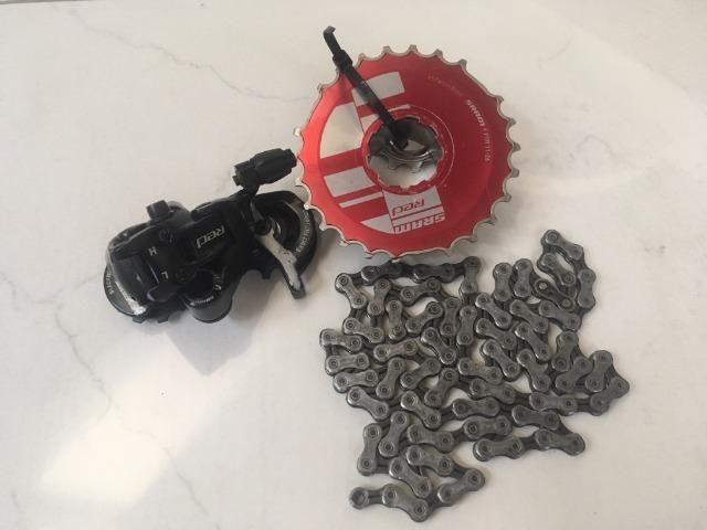 Grupo Sram Red,4 Pçs,cassete(10v),corrente,passador D/traz