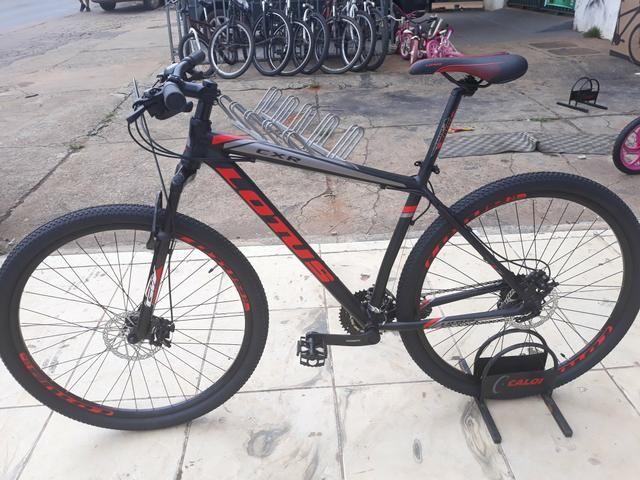 Bicicleta 29 Preto Vermelho 21v Shimano
