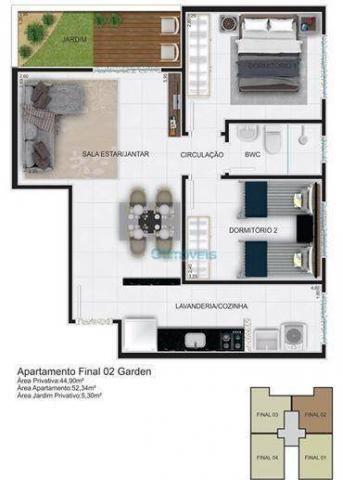 Apartamento com 2 dormitórios à venda, 44 m² por r$ 128.000 - thomaz coelho - araucária/pr - Foto 5