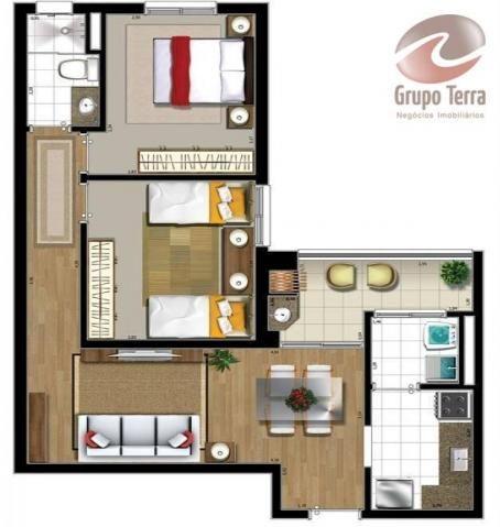 Apartamento com 2 dormitórios à venda, 52 m² por r$ 289.045,34 - urbanova - são josé dos c - Foto 7