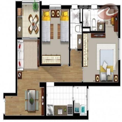 Apartamento com 2 dormitórios à venda, 52 m² por r$ 289.045,34 - urbanova - são josé dos c - Foto 6