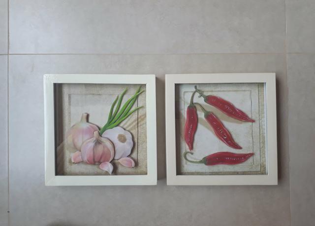 Trio de Quadros arte francesa para cozinha - Foto 4