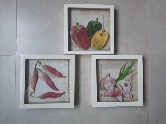 Trio de Quadros arte francesa para cozinha - Foto 5