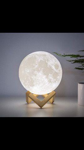 Luminária Lua Cheia 3D Troca de Cor - Foto 2