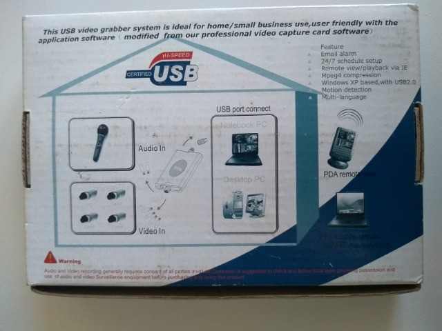 Gravador De Imagens - USB - DVR - 4 Canais Para PC ou Notebook - Foto 6